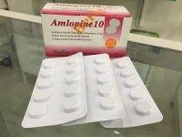 アムロジピン 10mg(Amlopine 10mg)10錠×10シート(1箱)
