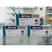【ネット最安値宣言】アジスロマイシン(AZYCIN)250mg/6錠×3箱